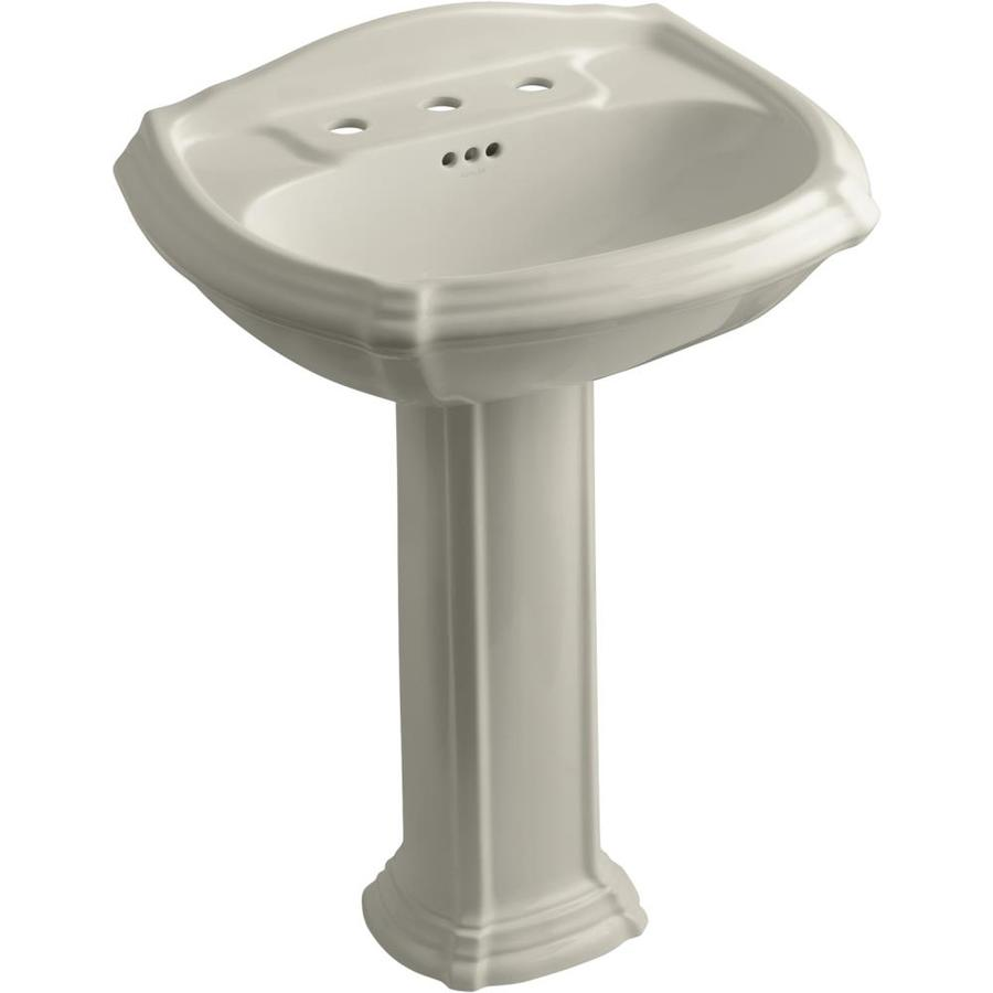 KOHLER Portrait 36.5-in H Sandbar Vitreous China Pedestal Sink
