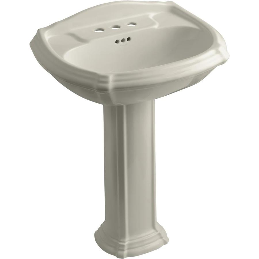 Kohler Pedestal : Shop KOHLER Portrait 36.5-in H Sandbar Vitreous China Pedestal Sink at ...