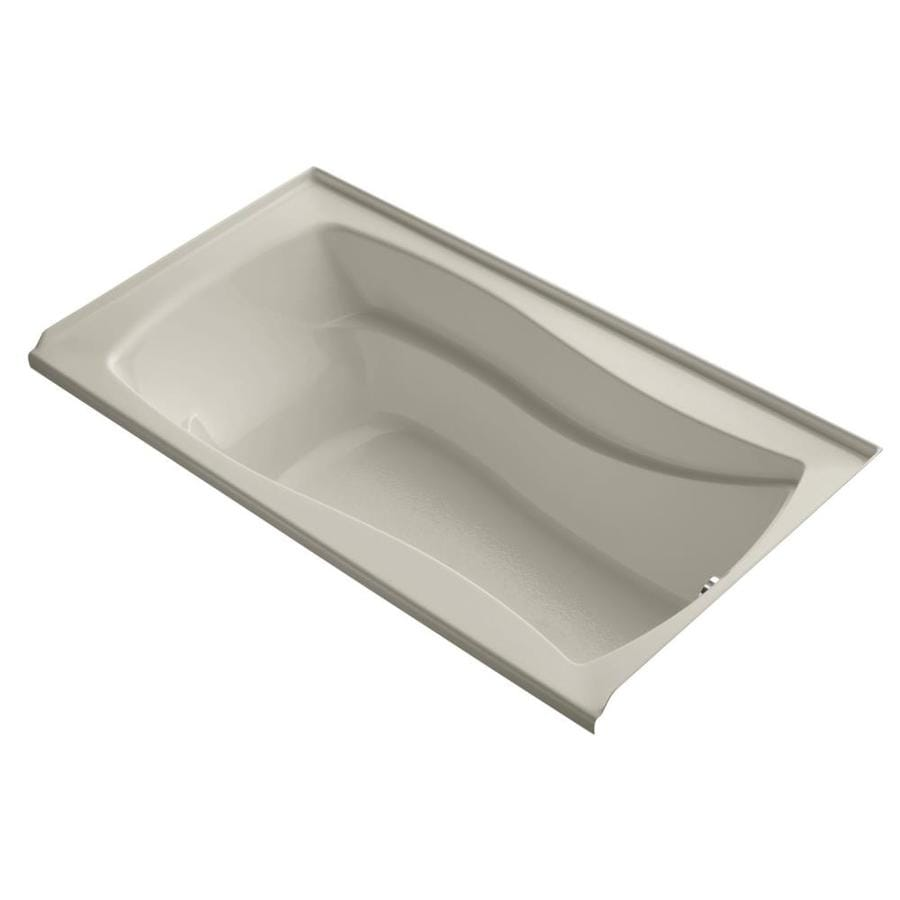 KOHLER Mariposa Sandbar Acrylic Hourglass In Rectangle Drop-in Bathtub with Right-Hand Drain (Common: 36-in x 66-in; Actual: 20-in x 36-in x 66-in)