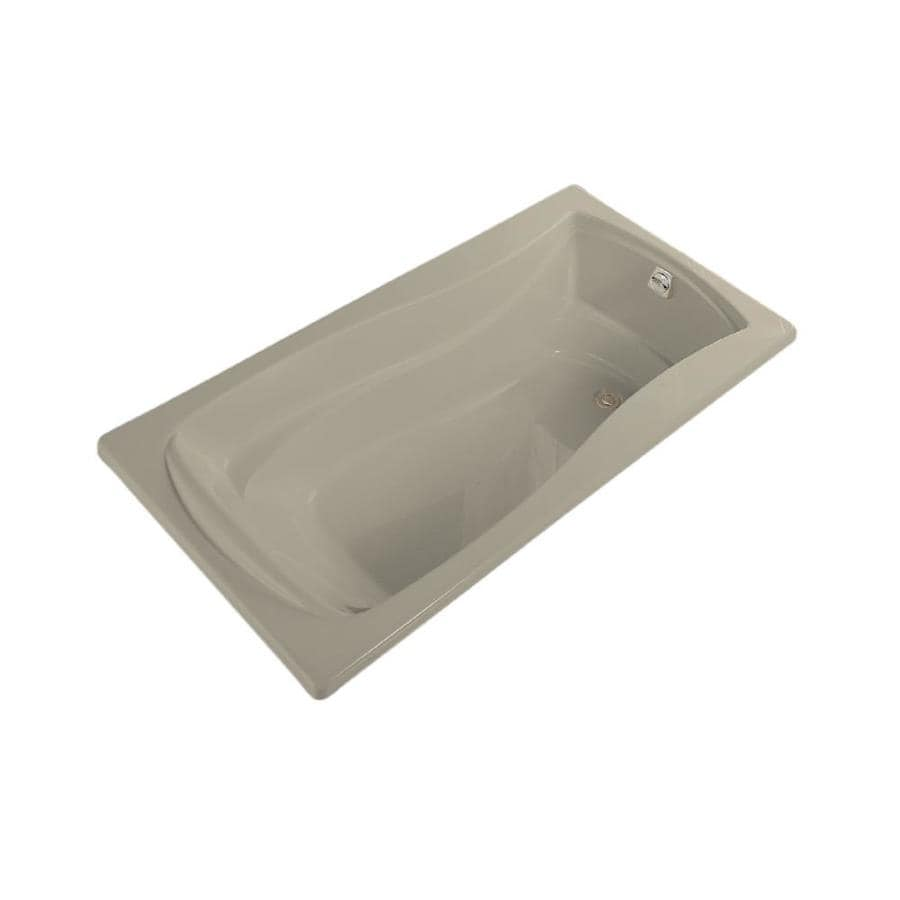 KOHLER Mariposa Sandbar Acrylic Hourglass In Rectangle Drop-in Bathtub with Right-Hand Drain (Common: 36-in x 72-in; Actual: 20-in x 36-in x 72-in)