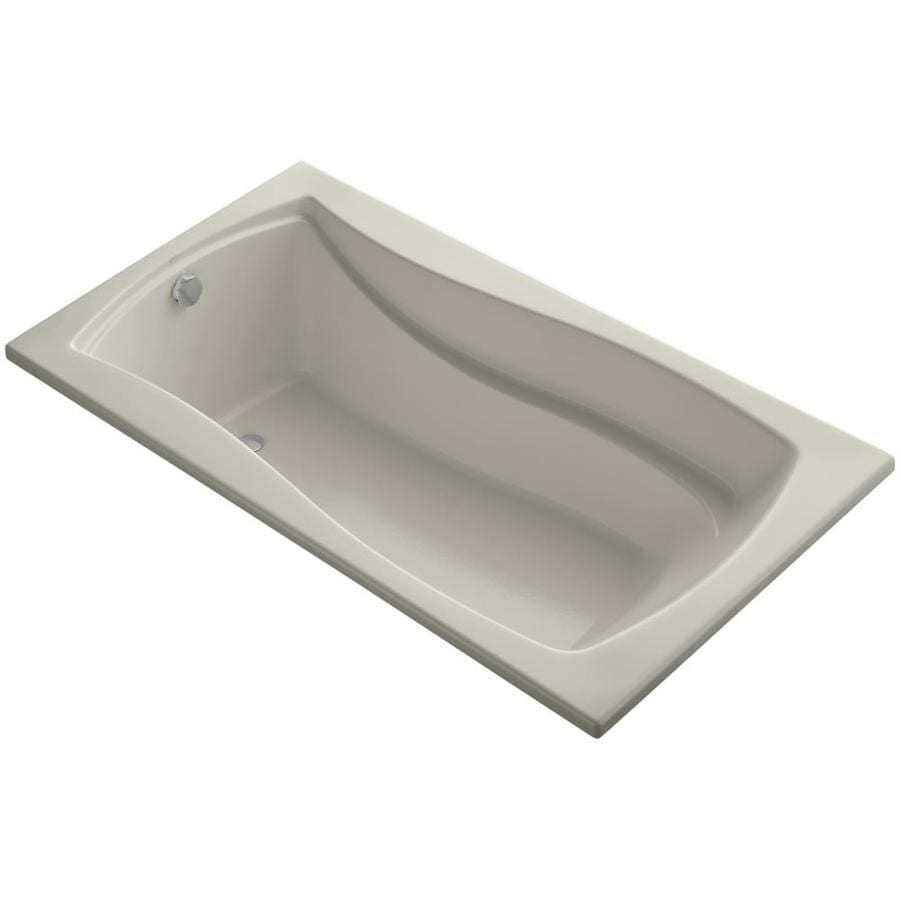 KOHLER Mariposa 66-in Sandbar Acrylic Drop-In Bathtub with Reversible Drain