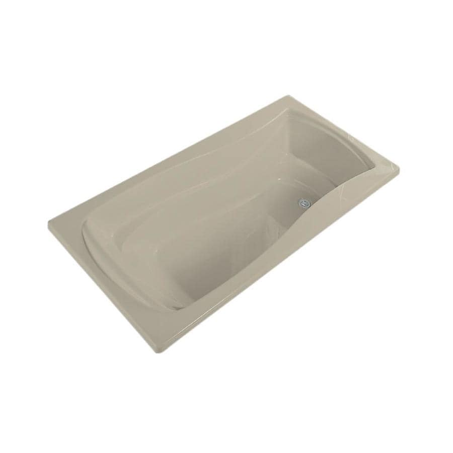 KOHLER Mariposa Sandbar Acrylic Hourglass In Rectangle Drop-in Bathtub with Reversible Drain (Common: 36-in x 60-in; Actual: 20-in x 36-in x 60-in)