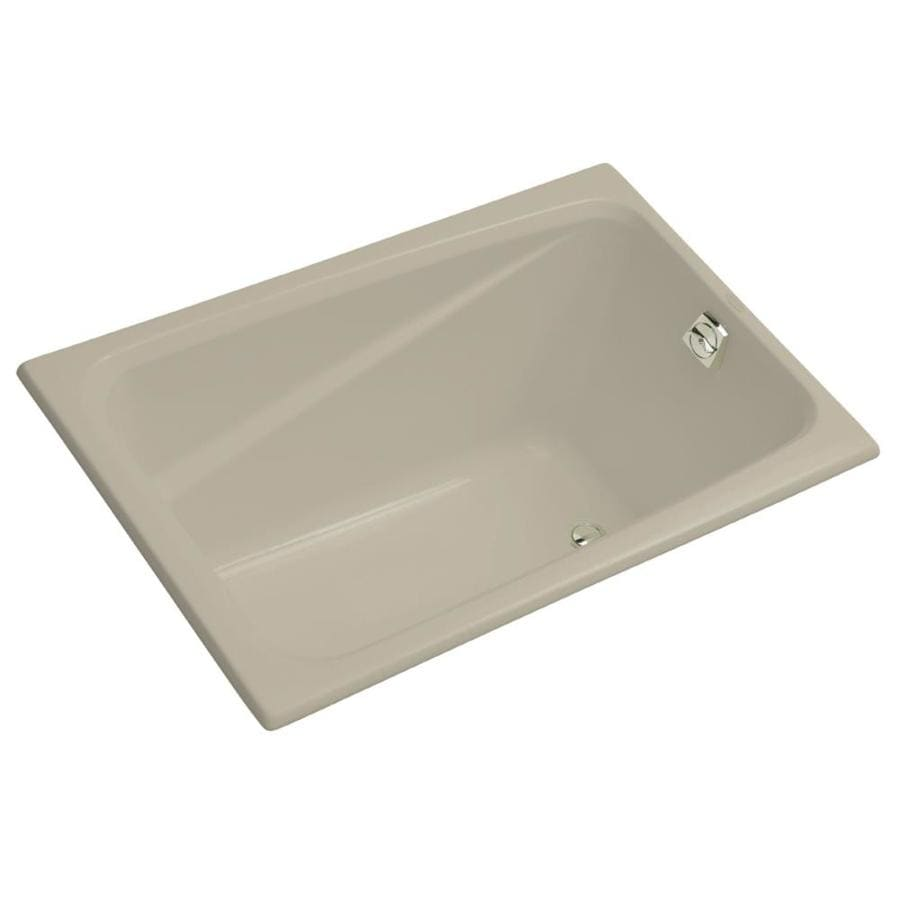 KOHLER Greek 48-in Sandbar Acrylic Drop-In Bathtub with Reversible Drain