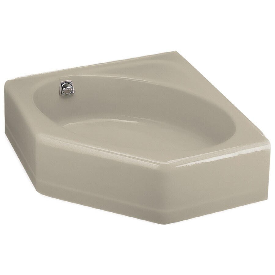 Shop KOHLER 48-in x 44-in Mayflower Sandbar Corner Skirted Bathtub ...