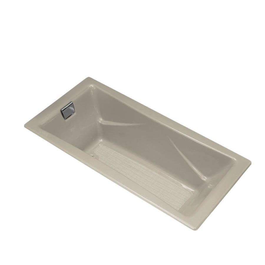 KOHLER Tea-for-Two 71.75-in Sandbar Cast Iron Drop-In Bathtub with Reversible Drain