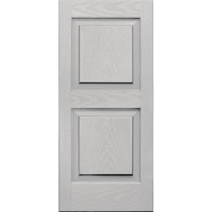 Vantage 2-Pack Paintable Raised Panel Vinyl Exterior Shutters (Common: 14-in x 31-in; Actual: 14.0312-in x 31.0625-in)