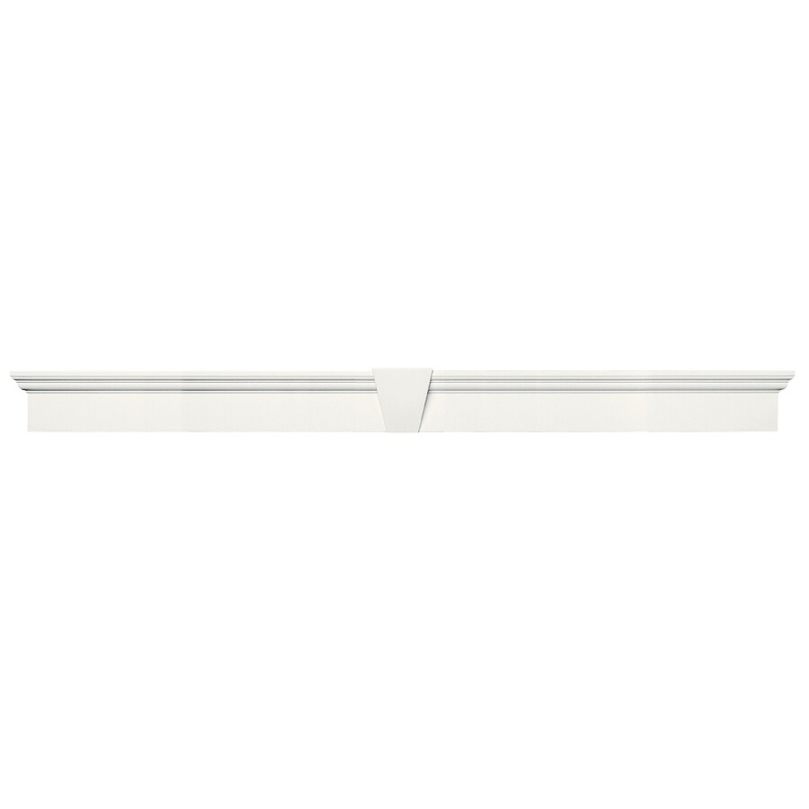 Vantage 73.4375-in x 6-in 123 White Vinyl Window Header Set