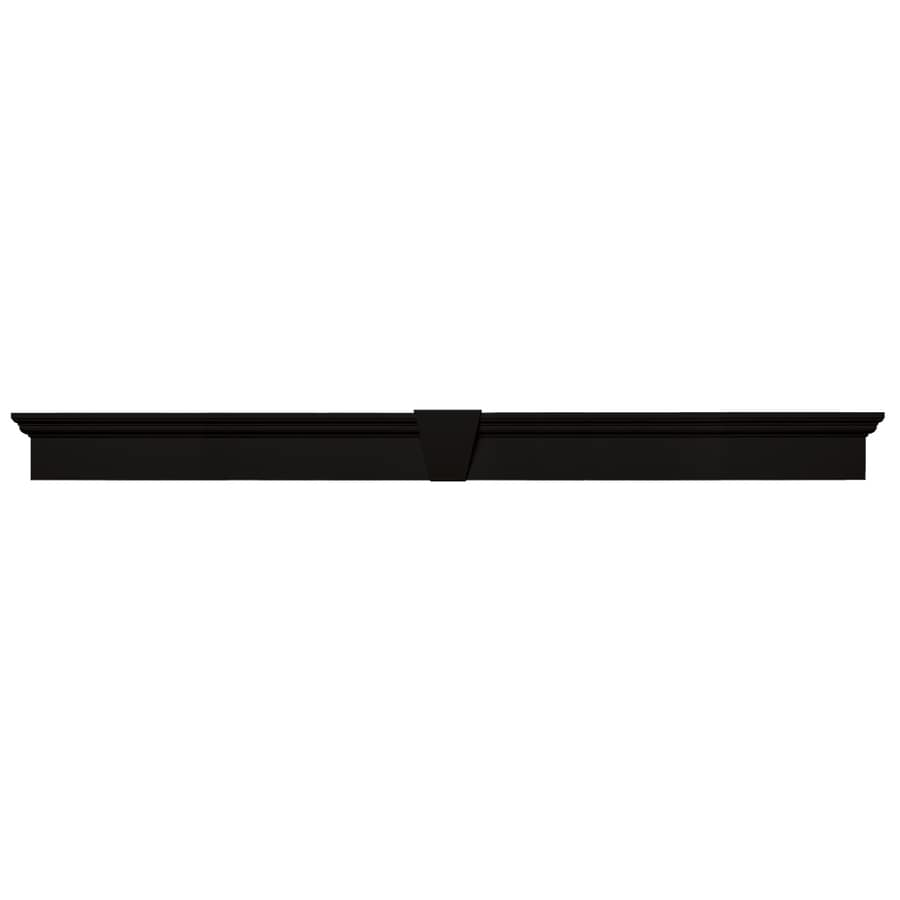 Vantage 73.4375-in x 6-in 002 Black Vinyl Window Header Set