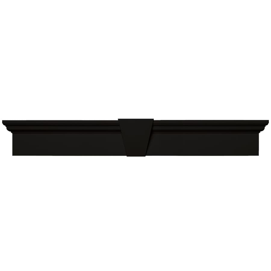 Vantage 37.5-in x 6-in Black Vinyl Window Header