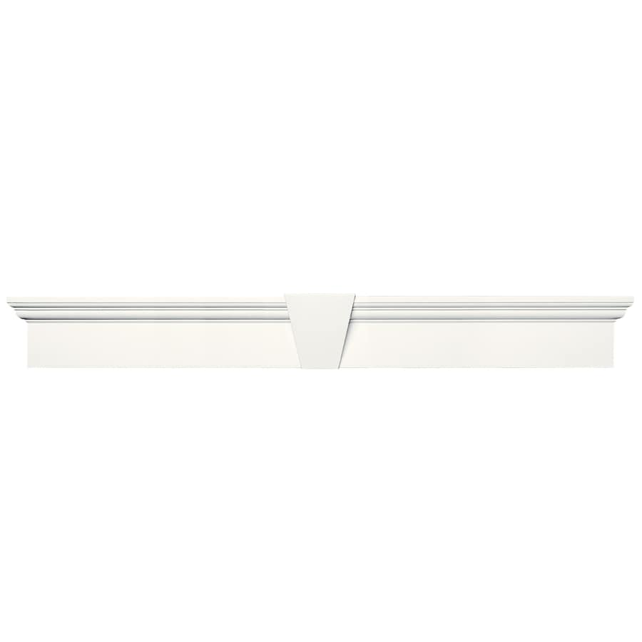 Vantage 73.3750-in x 8.7500-in 123 White Vinyl Window Header Set
