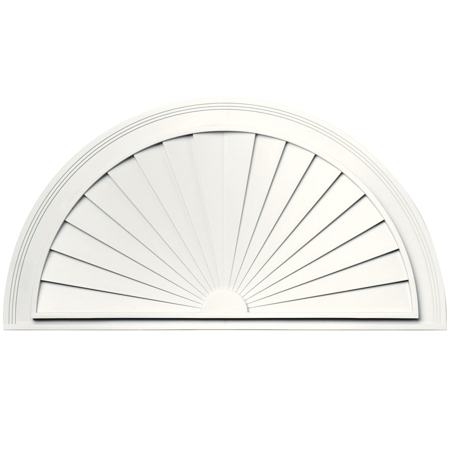 Vantage 37-1/2-in x 19-5/8-in White Vinyl Window Sunburst