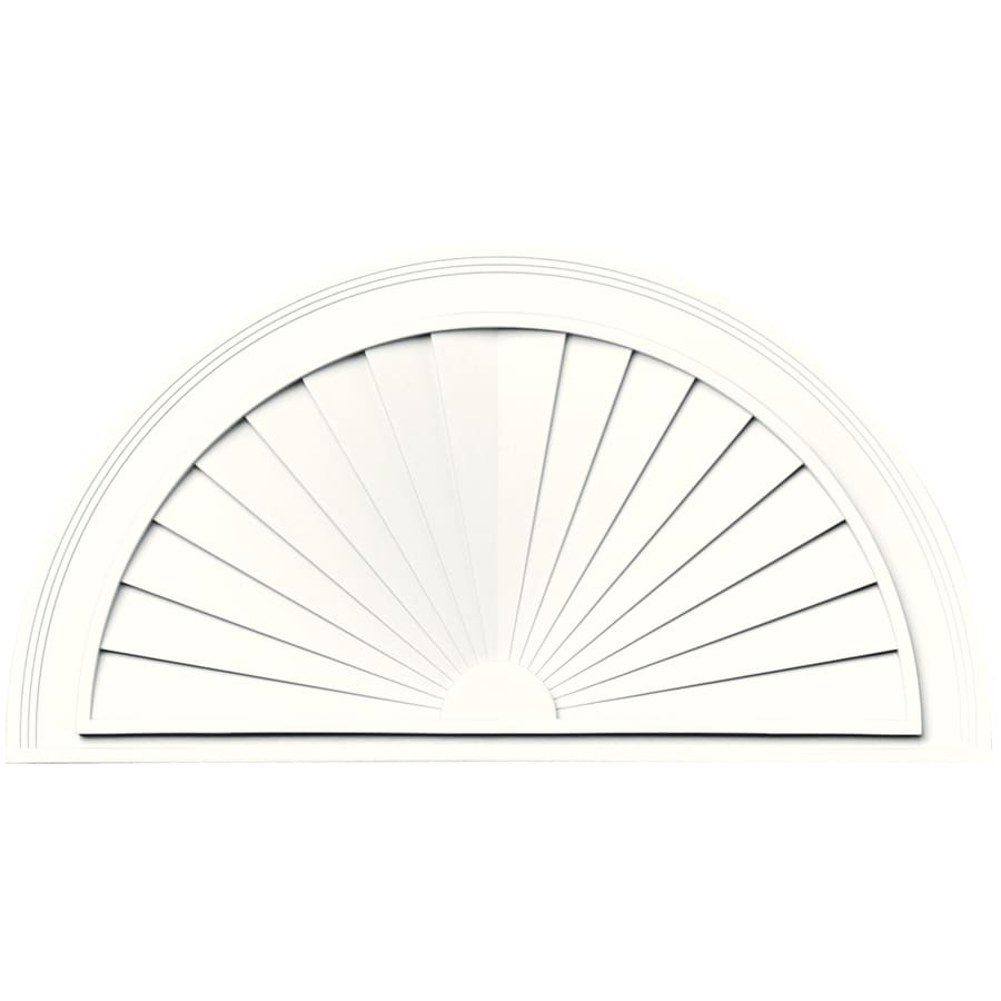 Vantage 33-1/2-in x 17-5/8-in White Vinyl Window Sunburst