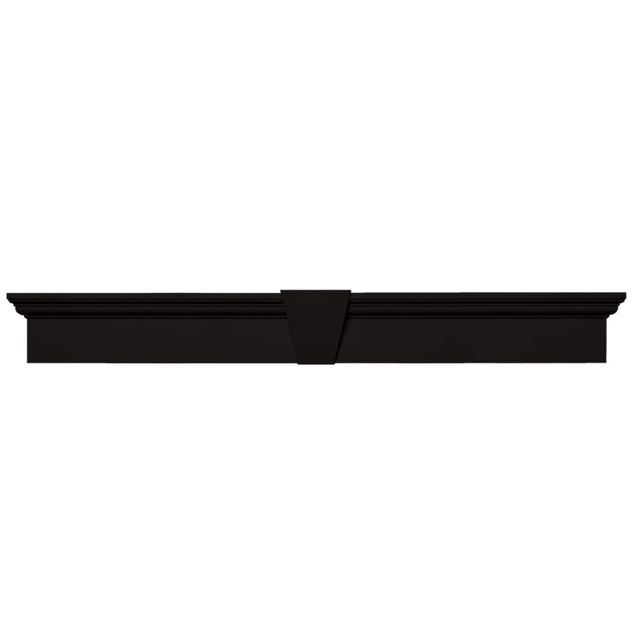 Vantage 73.375-in x 8.75-in Black Vinyl Window Header