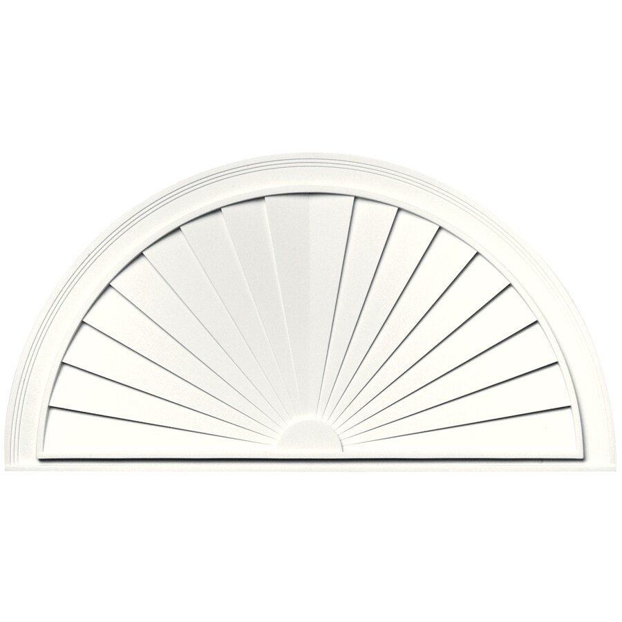 Vantage 43-5/16-in x 22-5/8-in White Vinyl Window Sunburst