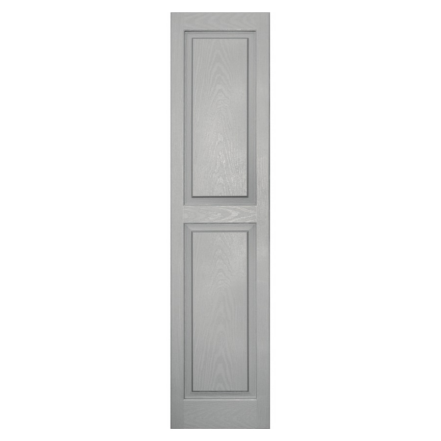 Vantage Paintable Raised Panel Vinyl Exterior Shutters (Common: 14-in x 59-in; Actual: 14-in x 59.25-in)