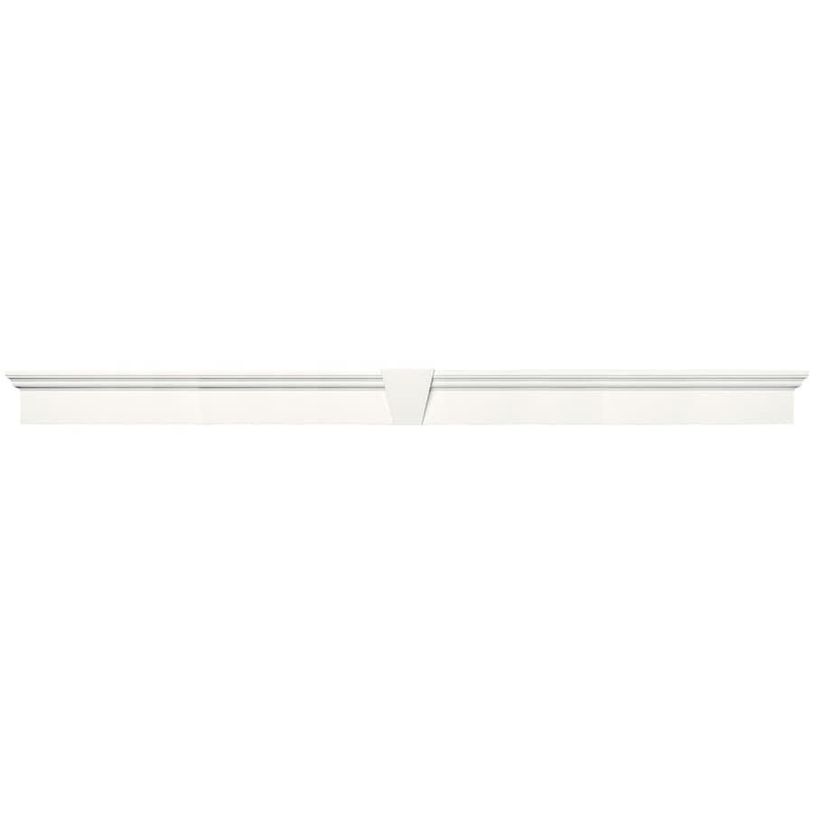 Vantage 127.5-in x 8.875-in White Vinyl Window Header