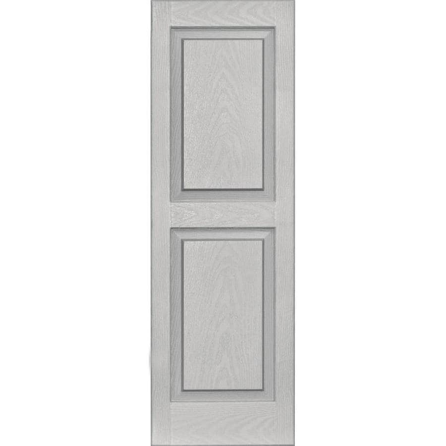 Vantage 2-Pack Paintable Raised Panel Vinyl Exterior Shutters (Common: 14-in x 43-in; Actual: 14.0312-in x 43.125-in)