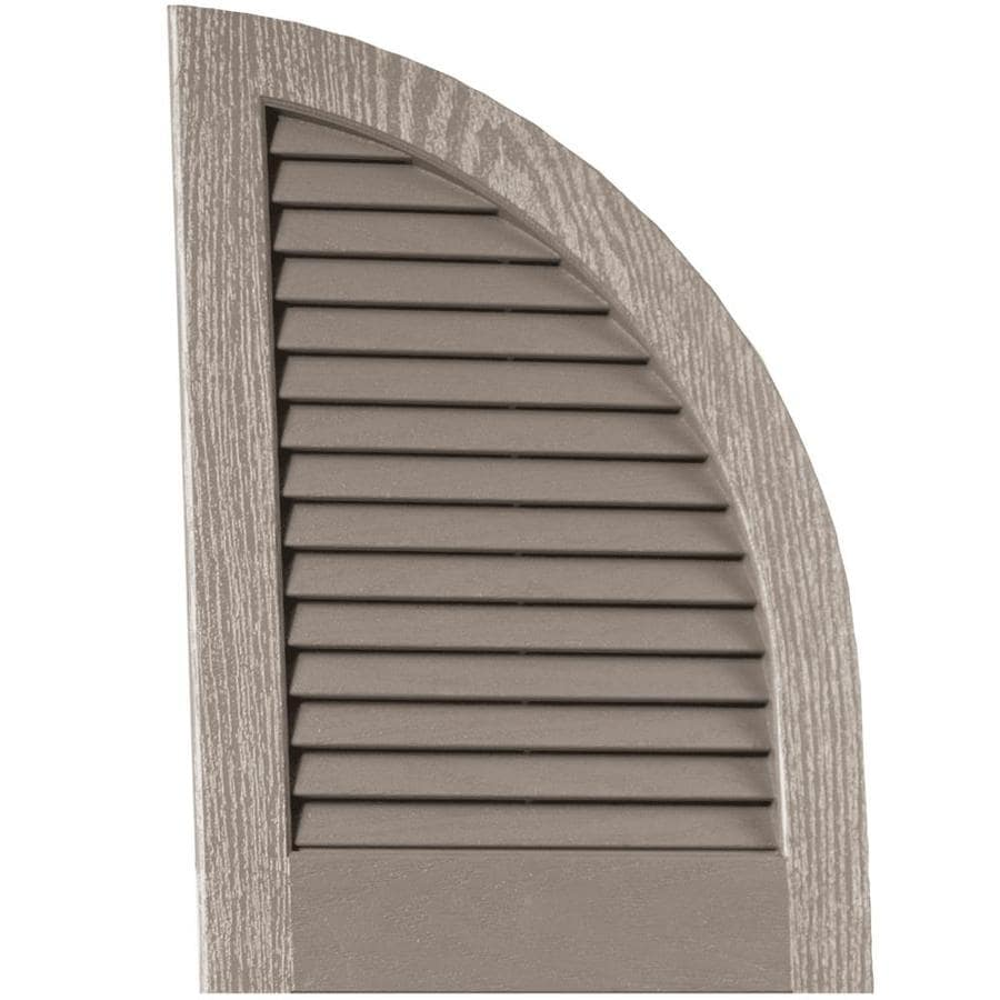 Vantage 2-Pack Clay Louvered Vinyl Exterior Shutters (Common: 14-in x 20-in; Actual: 13.875-in x 20.0625-in)