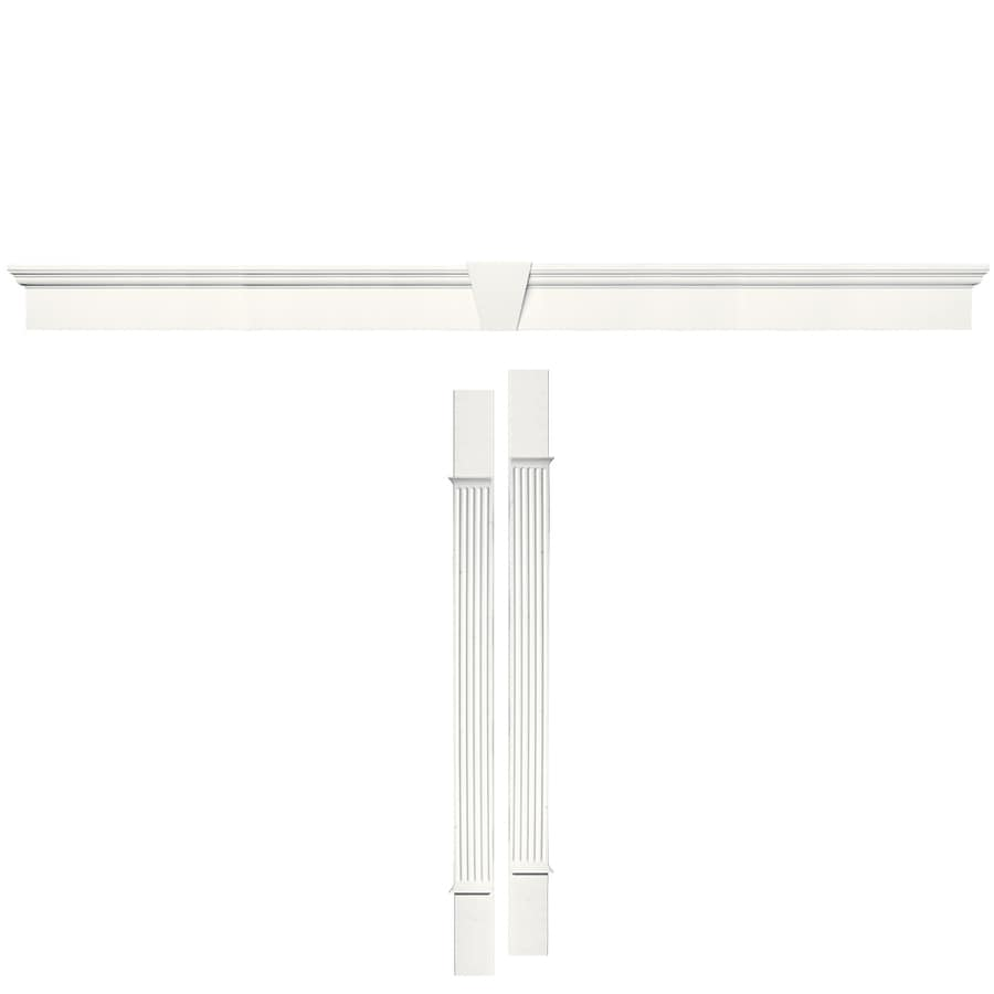 Vantage 127.5000-in x 8.8750-in 123 White Vinyl Window Header Set