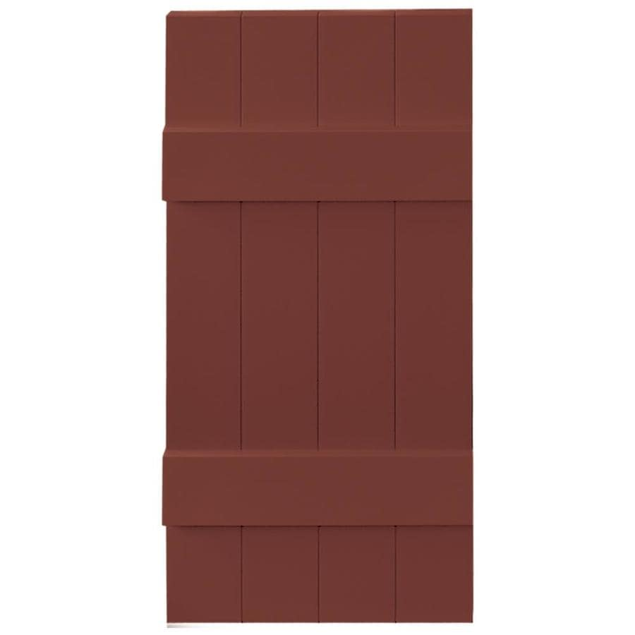 Vantage 2-Pack Cambridge Red Board and Batten Vinyl Exterior Shutters (Common: 14-in x 31-in; Actual: 13.875-in x 30.875-in)