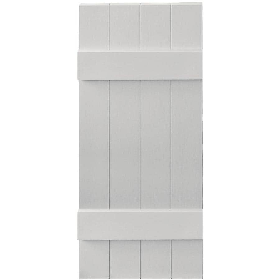 Vantage 2-Pack Paintable Board and Batten Vinyl Exterior Shutters (Common: 14-in x 35-in; Actual: 14.0312-in x 34.875-in)
