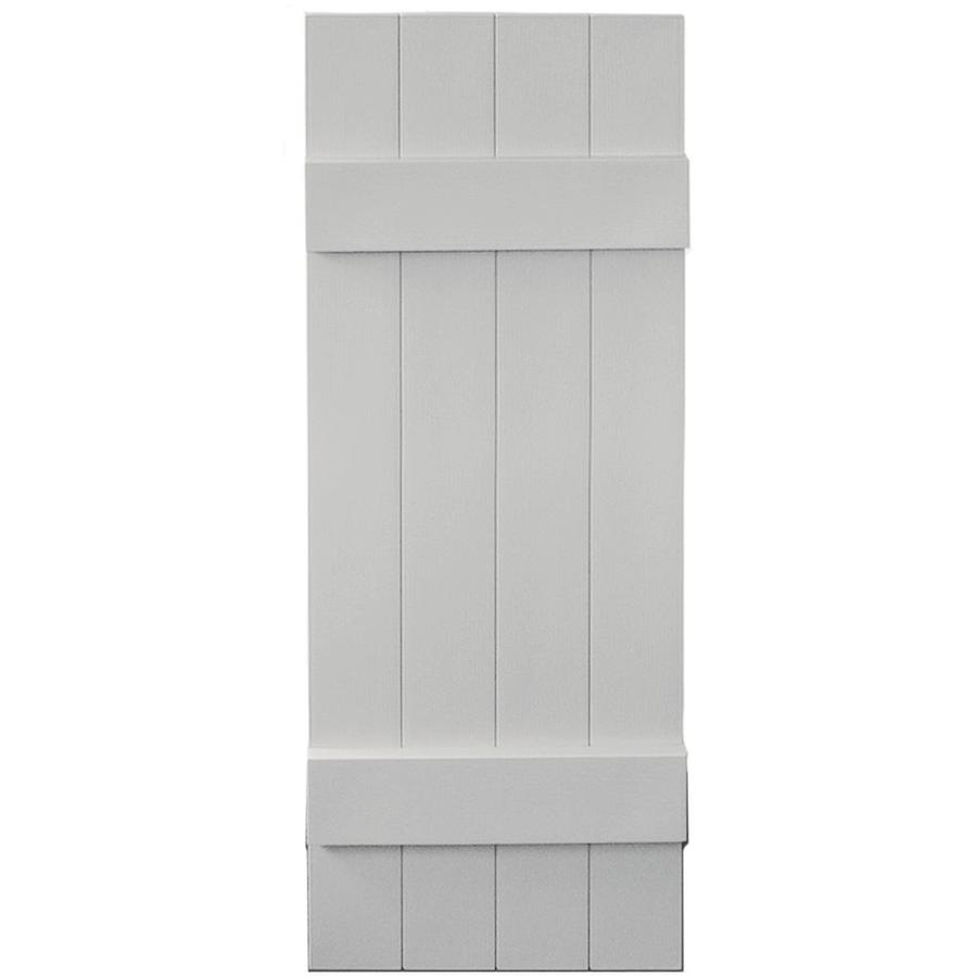 Vantage 2-Pack Paintable Board and Batten Vinyl Exterior Shutters (Common: 14-in x 39-in; Actual: 14.0312-in x 38.875-in)