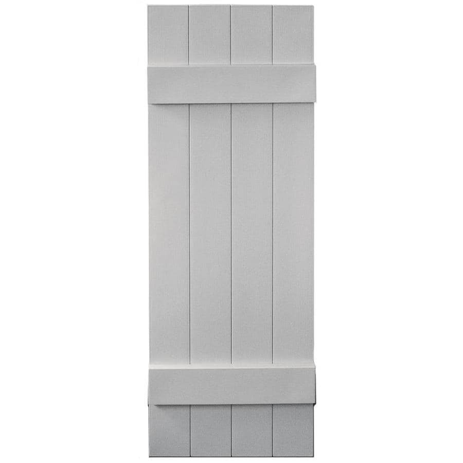 Vantage 2-Pack Paintable Board and Batten Vinyl Exterior Shutters (Common: 14-in x 43-in; Actual: 14.0312-in x 42.875-in)