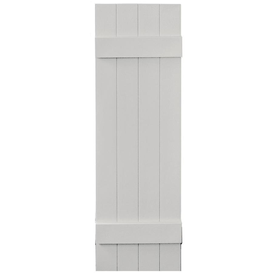 Vantage 2-Pack Paintable Board and Batten Vinyl Exterior Shutters (Common: 14-in x 47-in; Actual: 14.0312-in x 46.875-in)