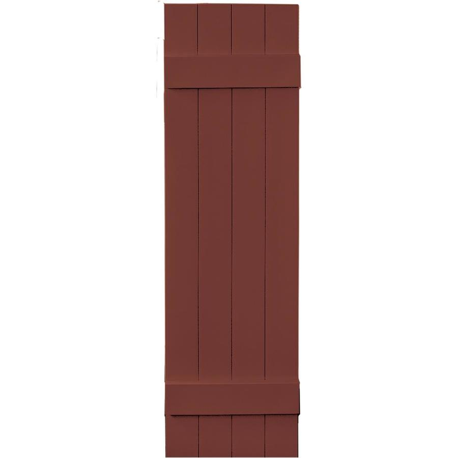 Vantage 2-Pack Cambridge Red Board and Batten Vinyl Exterior Shutters (Common: 14-in x 51-in; Actual: 13.875-in x 50.875-in)