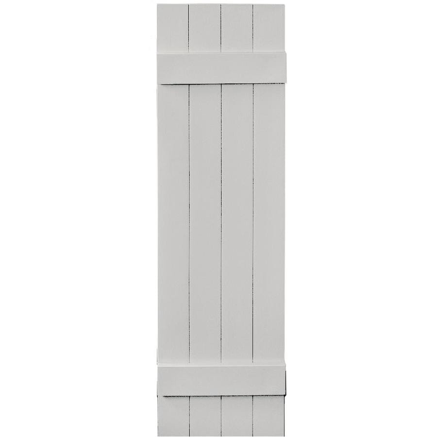Vantage 2-Pack Paintable Board and Batten Vinyl Exterior Shutters (Common: 14-in x 51-in; Actual: 14.0312-in x 50.875-in)