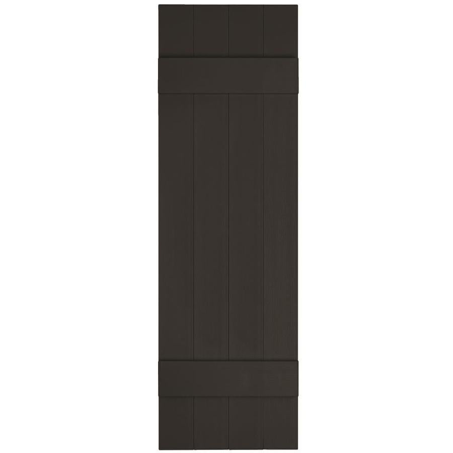 Vantage 2-Pack Black Board and Batten Vinyl Exterior Shutters (Common: 14-in x 55-in; Actual: 13.875-in x 54.875-in)