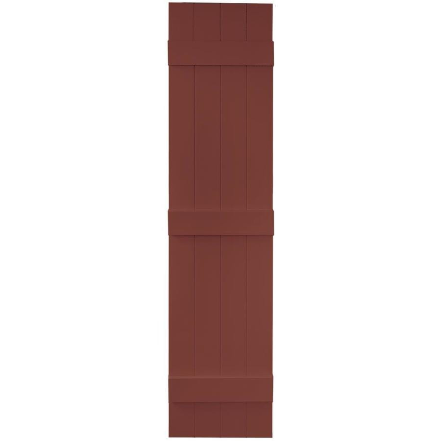 Vantage 2-Pack Cambridge Red Board and Batten Vinyl Exterior Shutters (Common: 14-in x 63-in; Actual: 13.875-in x 62.5-in)
