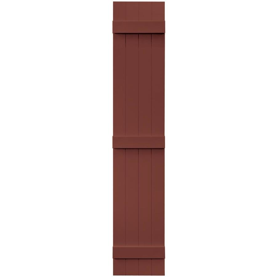 Vantage 2-Pack Cambridge Red Board and Batten Vinyl Exterior Shutters (Common: 14-in x 80-in; Actual: 13.875-in x 79.875-in)