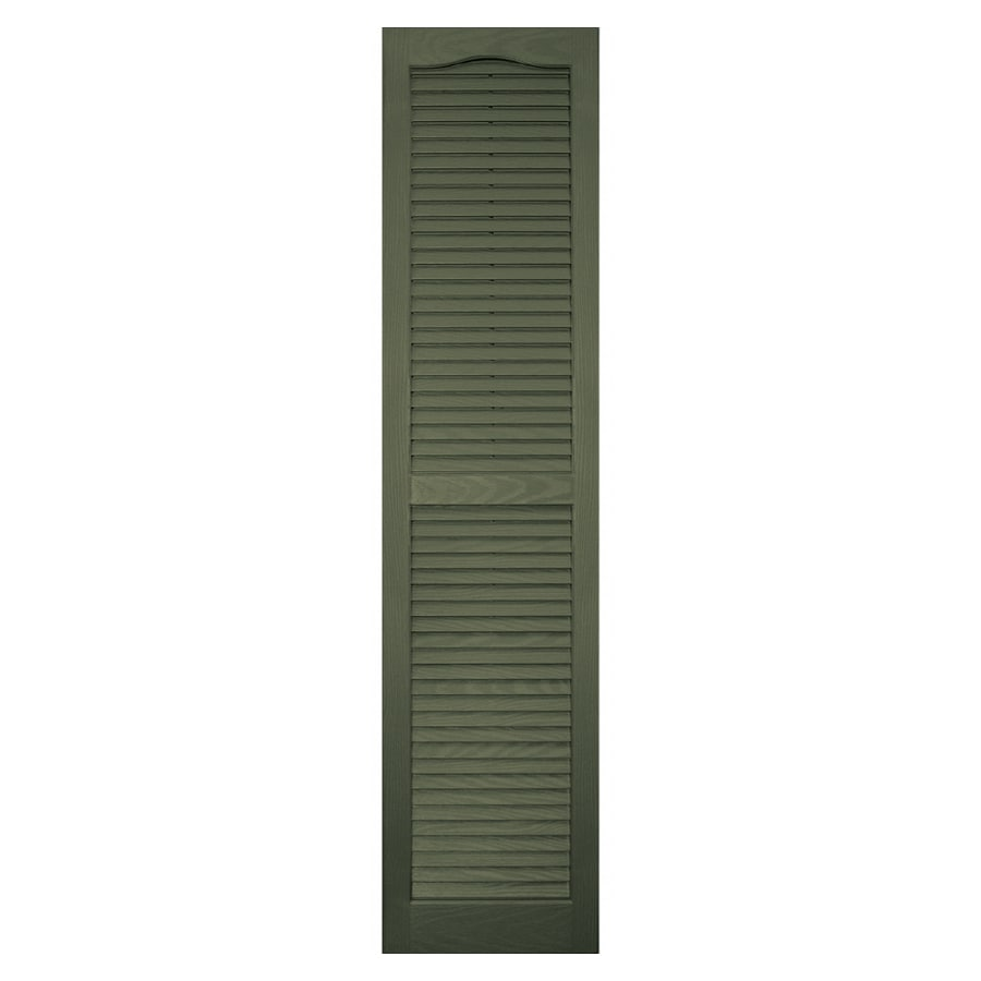 Vantage 2-Pack Colonial Green Louvered Vinyl Exterior Shutters (Common: 59-in x 14-in; Actual: 58.56-in x 13.875-in)