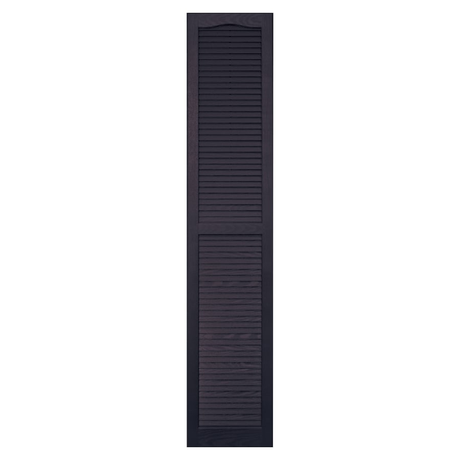 Vantage 2-Pack Plum Louvered Vinyl Exterior Shutters (Common: 14-in x 75-in; Actual: 13.875-in x 74.5-in)