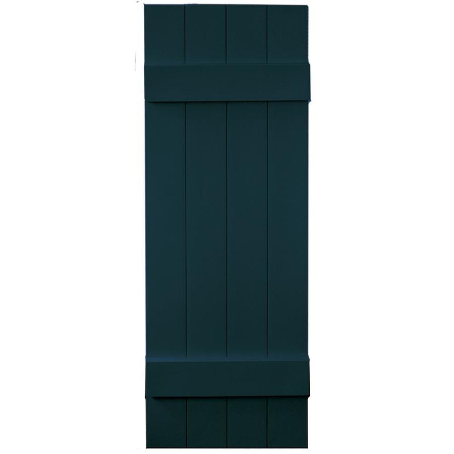 Vantage 2-Pack Indigo Blue Board and Batten Vinyl Exterior Shutters (Common: 14-in x 43-in; Actual: 13.875-in x 42.875-in)
