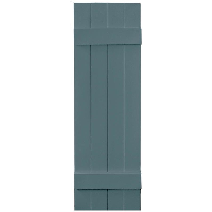 Vantage 2-Pack Wedgewood Blue Board and Batten Vinyl Exterior Shutters (Common: 14-in x 47-in; Actual: 13.875-in x 46.875-in)