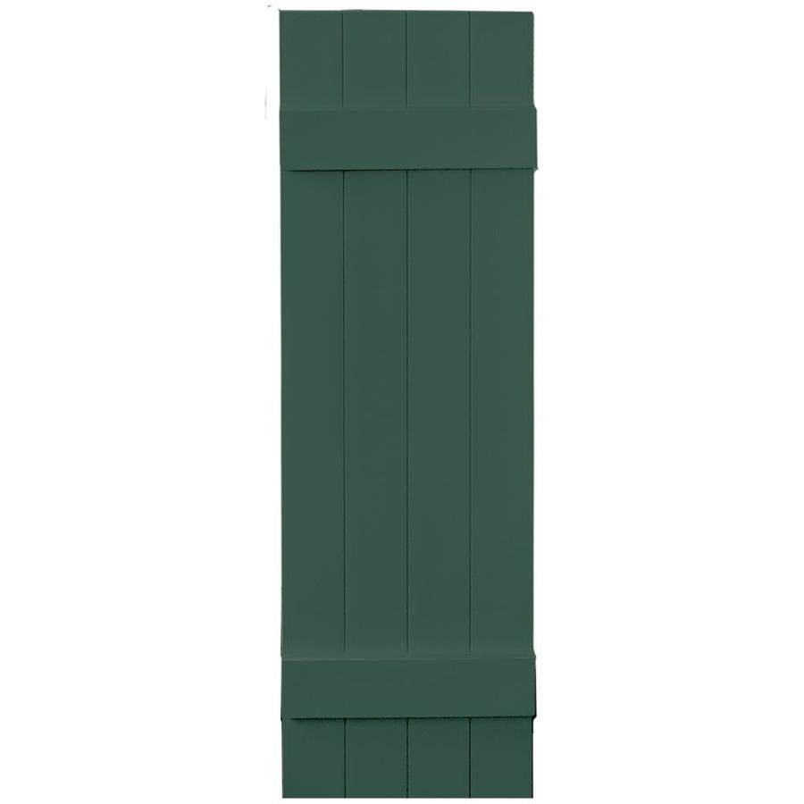 Vantage 2-Pack Midnight Green Board and Batten Vinyl Exterior Shutters (Common: 14-in x 47-in; Actual: 13.875-in x 46.875-in)