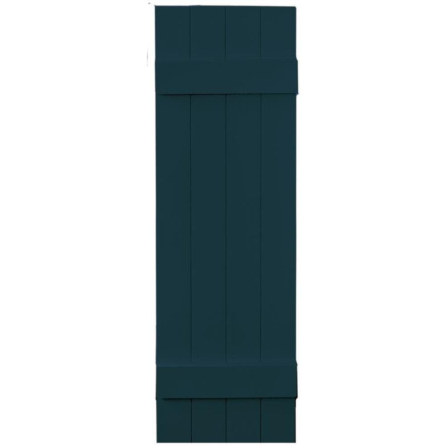 Vantage 2-Pack Indigo Blue Board and Batten Vinyl Exterior Shutters (Common: 14-in x 47-in; Actual: 13.875-in x 46.875-in)