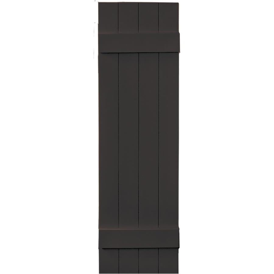 Vantage 2-Pack Chocolate Brown Board and Batten Vinyl Exterior Shutters (Common: 14-in x 51-in; Actual: 13.875-in x 50.875-in)