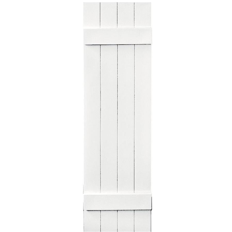 Vantage 2-Pack White Board and Batten Vinyl Exterior Shutters (Common: 14-in x 51-in; Actual: 13.875-in x 50.875-in)