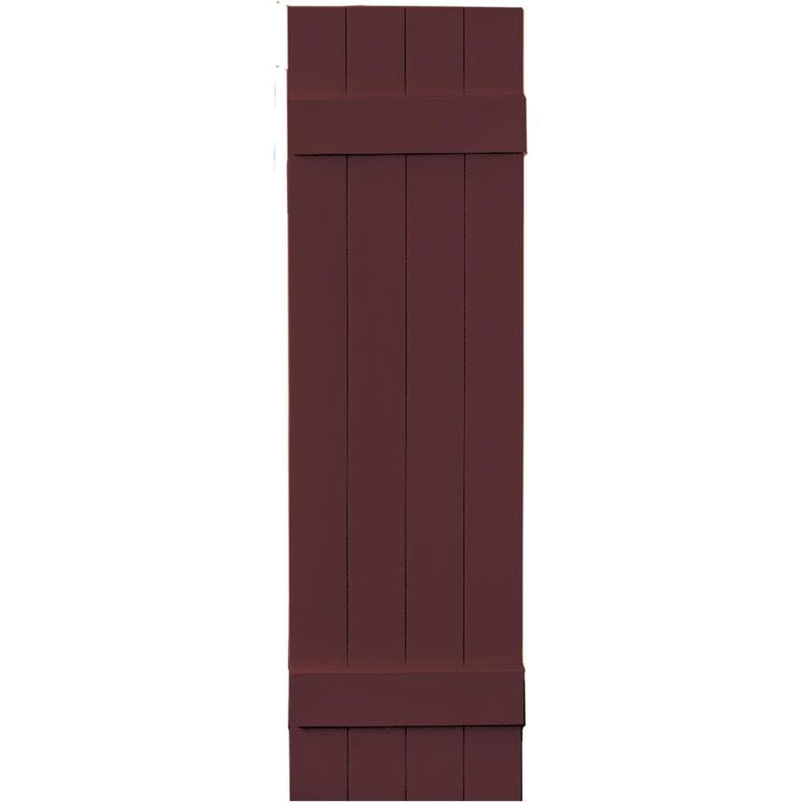 Vantage 2-Pack Cranberry Board and Batten Vinyl Exterior Shutters (Common: 14-in x 51-in; Actual: 13.875-in x 50.875-in)