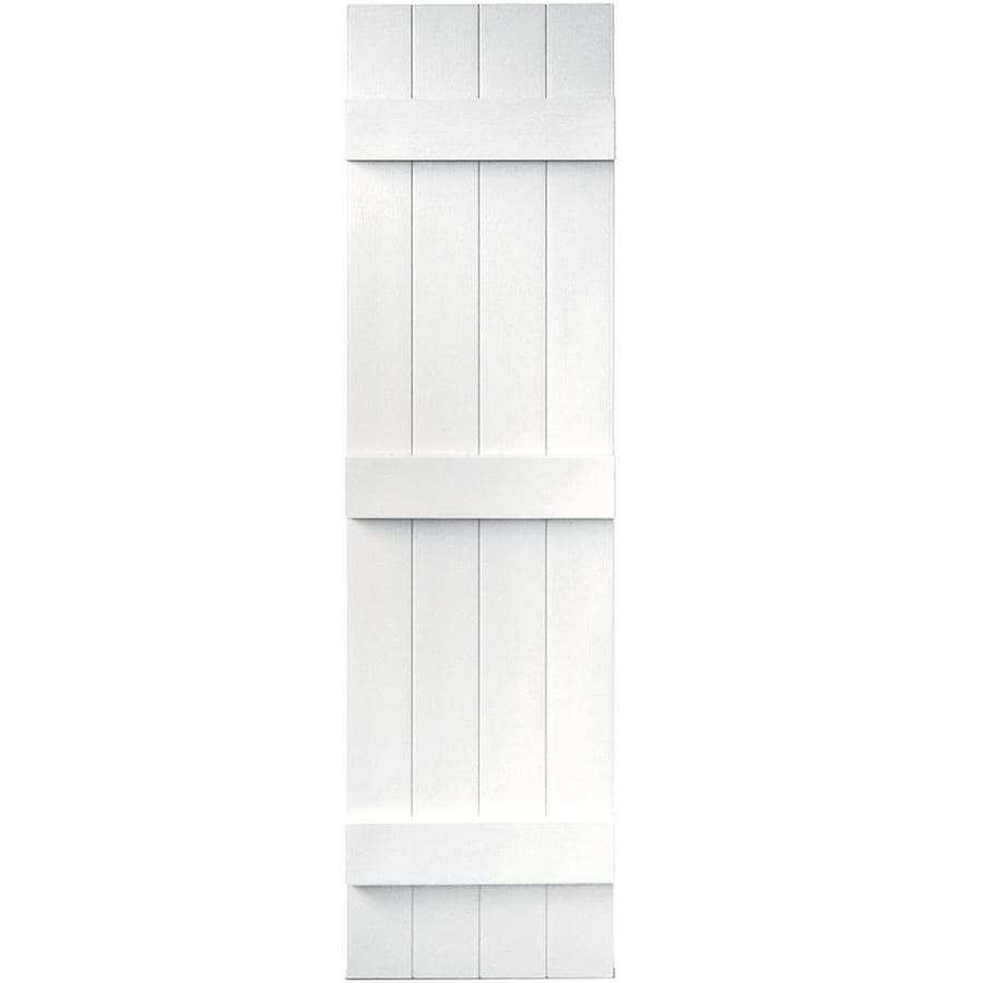 Vantage 2-Pack White Board and Batten Vinyl Exterior Shutters (Common: 14-in x 55-in; Actual: 13.875-in x 54.875-in)