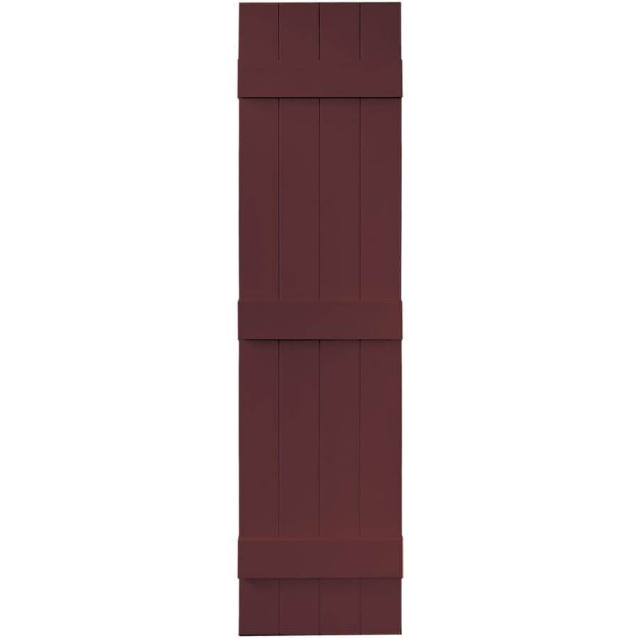 Vantage 2-Pack Cranberry Board and Batten Vinyl Exterior Shutters (Common: 14-in x 59-in; Actual: 13.875-in x 58.5-in)