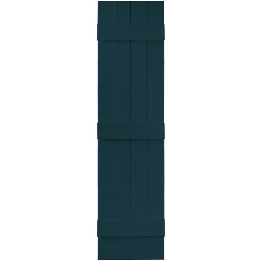 Vantage 2-Pack Indigo Blue Board and Batten Vinyl Exterior Shutters (Common: 14-in x 59-in; Actual: 13.875-in x 58.5-in)