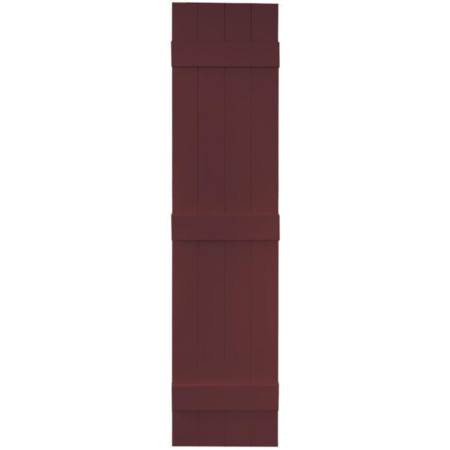 Vantage 2-Pack Cranberry Board and Batten Vinyl Exterior Shutters (Common: 14-in x 63-in; Actual: 13.875-in x 62.5-in)