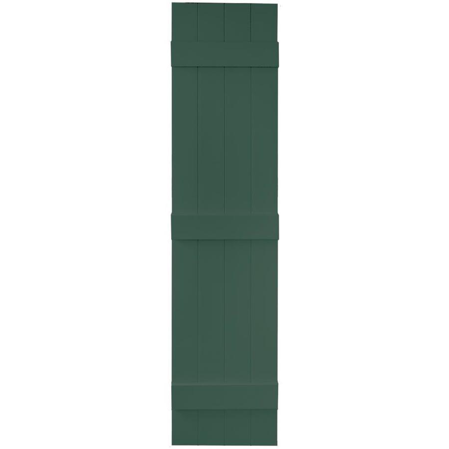 Vantage 2-Pack Midnight Green Board and Batten Vinyl Exterior Shutters (Common: 14-in x 63-in; Actual: 13.875-in x 62.5-in)