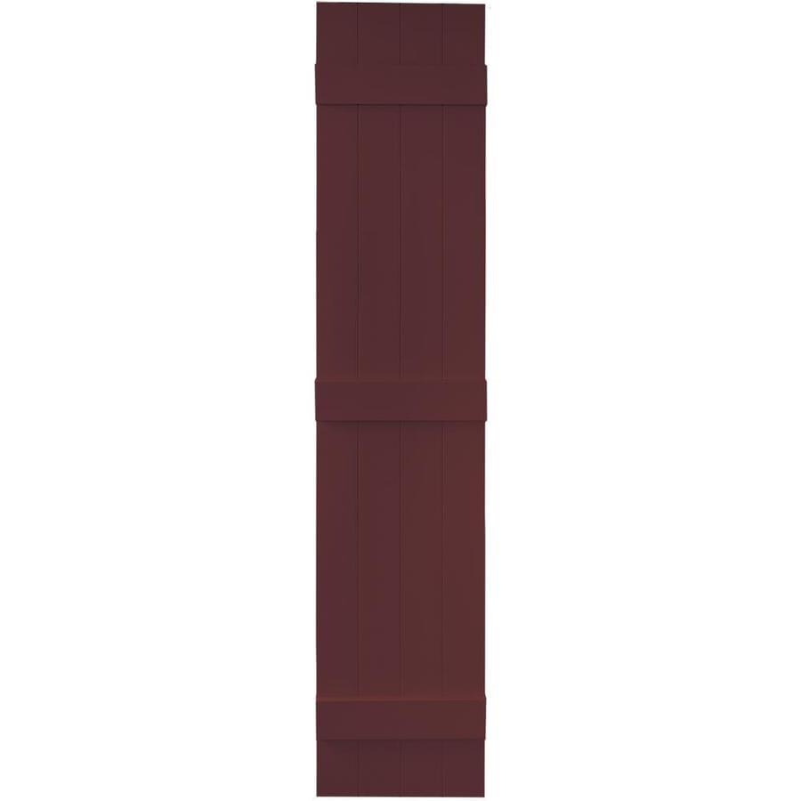 Vantage 2-Pack Cranberry Board and Batten Vinyl Exterior Shutters (Common: 14-in x 71-in; Actual: 13.875-in x 70.5-in)