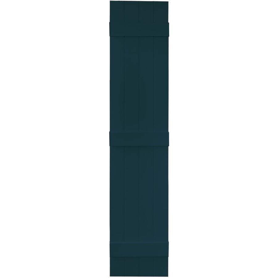 Vantage 2-Pack Indigo Blue Board and Batten Vinyl Exterior Shutters (Common: 14-in x 71-in; Actual: 13.875-in x 70.5-in)
