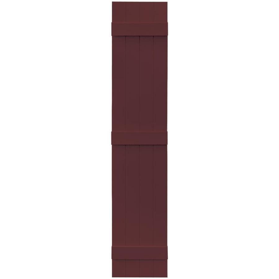 Vantage 2-Pack Cranberry Board and Batten Vinyl Exterior Shutters (Common: 14-in x 75-in; Actual: 13.875-in x 74.875-in)